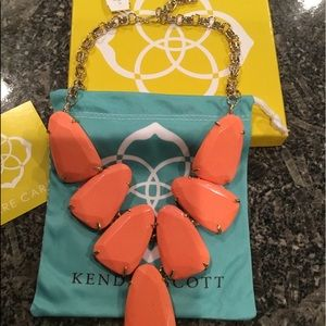Kendra Scott Coral Harlow Necklace